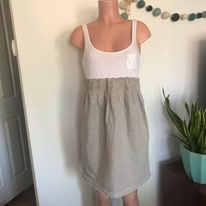 James Perse knit tank empire waist linen sundress